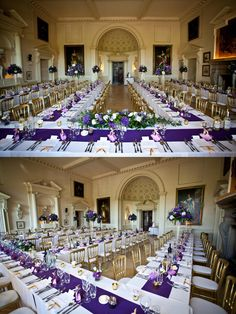 #purple and gold wedding - designed & planned by Cranberry Blue Weddings, photo by Steven Brooks