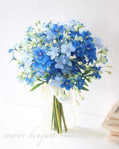 Prom Flowers, Pastel Flowers, Love Flowers, Flowers In Hair, Wedding Flowers, Bridal Bouquet Blue, Bride Bouquets, Blue And Blush Wedding, Floral Wedding