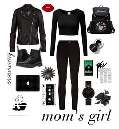 """""""12"""" by kwinnerr on Polyvore featuring Paige Denim, SET, Dr. Martens, Lime Crime and CLUSE"""
