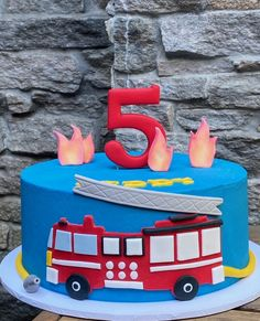 Toddler Birthday Cakes, 3rd Birthday Cakes, Firefighter Birthday Cakes, Fireman Party, Novelty Cakes, Cake Decorating Tips, Cakes For Boys, Cake Creations, Party Cakes