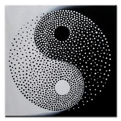 Items similar to Yin Yang - Original Modern Painting on Canvas, Acrylic, Abstract Yin Yang Decor, Yin Yang Art, Black and White Yin Yang, Yin Yang Silhouette on Etsy