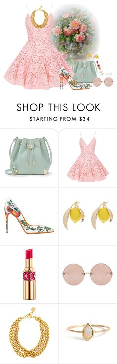 """""""Girly girl"""" by gabyidc ❤ liked on Polyvore featuring Vince Camuto, Alex Perry, Dolce&Gabbana, Yves Saint Laurent, Linda Farrow and Ben-Amun"""