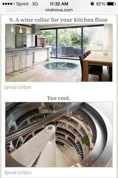 Wine cellar under the floor