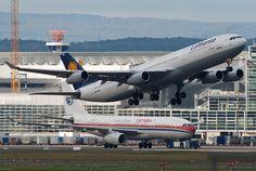 """Lufthansa Airbus A340-311 (registered D-AIGD; named """"Remscheid"""")"""