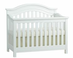 Baby Caché - The Riverside Crib = perfectly classic!  LOVE the crisp white! #munire #pinparty #MadeinUSA