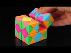 How To Make An INFINITY CUBE Out Of Paper! - YouTube