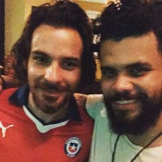 I'm with a very happy #santiagocabrera now!!!! Congratulations to Chile on their historic win!!!