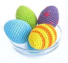 patrón de huevo libre de ganchillo