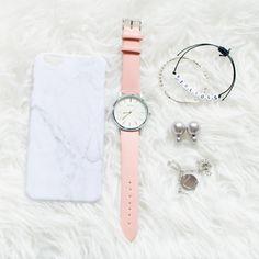 "Horloge ""Brooklyn"" roze"