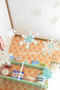パーラービーズで作る雪の結晶 : Rainbow Bakery