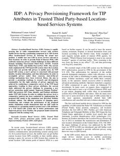PDF | Location-Based Services (LBS) System is rapidly growing due to radio communication services with wireless mobile devices having a positioning... | Find, read and cite all the research you need on ResearchGate Location Based Service, Research Publications, Cloud Computing, Third Party, Computer Science, Communication, Management, Pdf, Reading