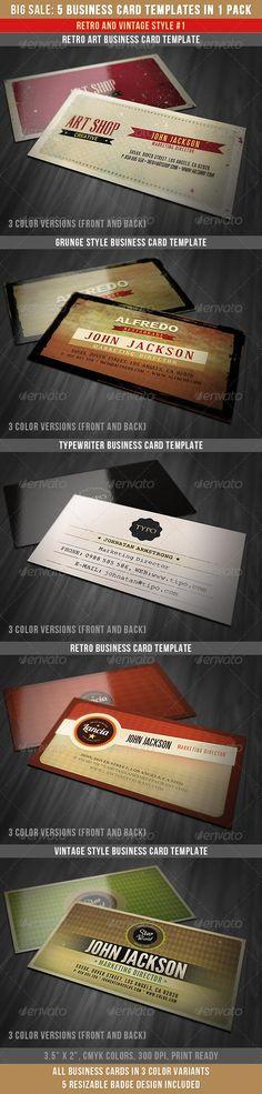 Retro Business Cards Bundle