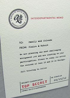 Top Secret Spy Wedding Invitation - g3