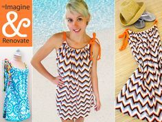 Re-imagine & Renovate~~Tutorial: Easy Knit Swimsuit Cover-Up (This would make a super cute maxi dress as well)