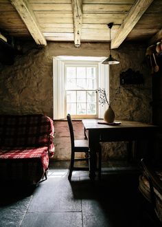 Our favourite photos from rustic homes full of character in Wales and the Lake District, cabins in the Romanian mountains and romantic French villages. Welsh Cottage, Old Cottage, Cornish Cottage, Vintage Interiors, Rustic Interiors, Shabby, Antique Interior, Cabins And Cottages, Kitchen On A Budget