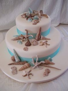 beach wedding cake idea.
