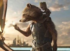 Here is a shot of Rocket Raccoon along with Baby Groot from Guardians of the Galaxy Vol Rocket Raccoon is going to steal some valuable batteries. Guardians of the Galaxy-Rocket Raccoon 11 Marvel Avengers Movies, Marvel Movie Posters, Disney Movie Posters, Marvel Characters, Gardians Of The Galaxy, Guardians Of The Galaxy Vol 2, Galaxy Movie, Galaxy Art, Captain America Movie