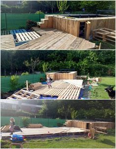 This wood pallet idea is yet again one of the best options for your garden location if it is blended with the flavor of the swimming pool in it. You can arrange the swimming pool with the wood pallet deck that would give out the whole wood pallet with the stylish form of the furnishing.