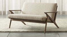 Cavett Loveseat | Crate and Barrel