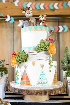 #birthday-party, #whimsical, #teepee, #birthday-cake, #kids-party Photography: Krista Lii Photography - www.kristaliiphotography.ca Read More: http://www.stylemepretty.com/living/2014/06/20/wild-free-birthday-party/