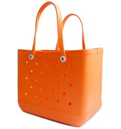 Orange bogg™ bag: The must have beach & pool bag that's so great you're going to want to bring it everywhere you go. It comes with 3 accessory bags to hold your small essentials.  You can also personalize it with your bogg™ bit initials by purchasing your initial bits. $59.50 Bits! How delightful