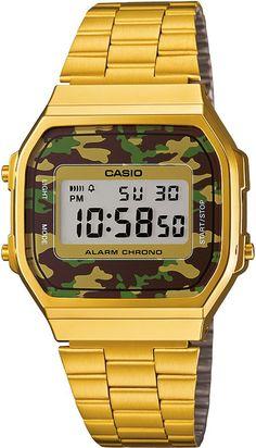 Casio Retro Camouflage A168WEGC-3EF ♡(n.n)!!