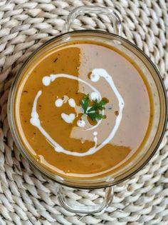 Édesburgonya krémleves Hummus, Ethnic Recipes, Food, Mint, Essen, Meals, Yemek, Eten
