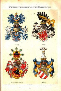 Österreichisch Ungarische Wappenrolle 1890, Hugo Gerhard Ströhl, page 5.