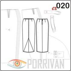 Выкройка юбки с клином годе построена для плотных тканей с эластаном. Это длинная юбка, а клин годе находится на переднем полотнище посередине. Техника нео