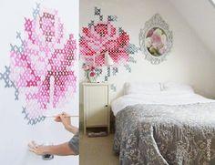 E o bordado subiu pelas paredes - dcoracao.com - blog de decoração e tutorial diy
