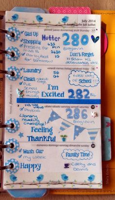 She's Eclectic: My week in my Filofax  #29 - close up