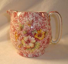Royal Winton Grimwades Dorset Pink Floral Chintz 32 oz Pitcher Small China Cream