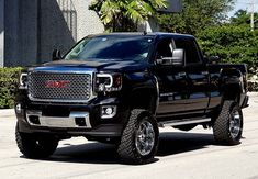 RECON Part # 264295BKC - SMOKED Projector Headlights GMC Sierra & Denali 14-16 Smooth OLED Technology