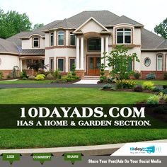 10dayads.com has a home & garden section. #SellHome #ClassifiedWebsites