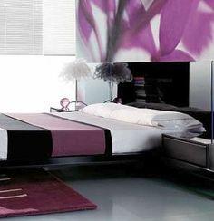 Decoração de quartos com roxo