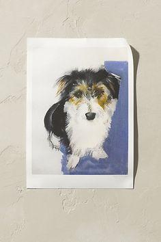 Anthropologie EU Sally Muir Terrier Wall Art