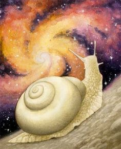 "art: ""Measuring Something Impossible; aka: The Cosmic Snail"" by Brian Bowes"