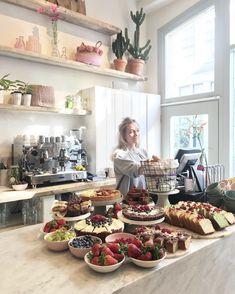 Pluk Sweets, Pluk Sweetcorner, Pluk Pie Cafe Restaurant, Modern Restaurant, Cafe Bar, Plywood Furniture, Bakery Shop Design, Humble House, Coffee Shop Aesthetic, Bakery Store, Cake Cafe