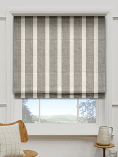 Madison Humbug Roman Blind from Blinds 2go Wicker Furniture Cushions, White Wicker Furniture, Wicker Bedroom, Diy Curtains, Curtains With Blinds, Window Curtains, House Blinds, Blinds For Windows, Bedroom Windows