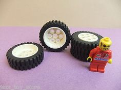 Rare large 13 x 24 white lego #technic tyres #wheels set of 4 big car #racing 14,  View more on the LINK: http://www.zeppy.io/product/gb/2/401180145307/