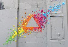 Origami Street Art by Mademoiselle Maurice in Paris