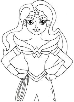 Coloring Pages Kids Print And Color Wonder Woman Halloween Free