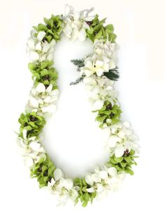 green and white orchid lei - for moms