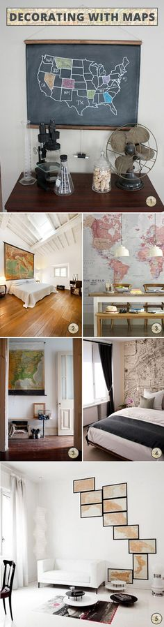 Maps - some clever ideas for decorating with maps. Www.willowandstone.co.uk for map wrap £3.