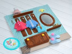 Toddler Crafts, Preschool Crafts, Crafts For Kids, Felt Doll House, Felt Crafts, Paper Crafts, Book Libros, Diy Quiet Books, Sensory Book