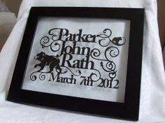 Personalised+Newborn+Baby+Hand+Cut+Papercut+by+StudioCharley,+£45.00