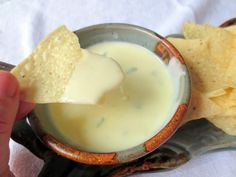 Mexican Queso Blanco-- Anyone ever wonder how they make that delicious white queso dip at Mexican restaurants?? Look no further because I found a recipe that is a close duplicate! This stuff is addicting!