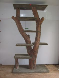 This is unique custom made cat tree that your cats will love! Each piece is made from driftwood salvaged from pristine beaches of beautiful