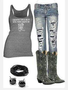 Love love love these jeans cute country outfits, country wear, western outfits, cowgirl Country Look, Country Wear, Country Girl Style, Country Fashion, Country Girls, My Style, Southern Style, Country Chic, Country Girl Outfits