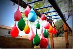Water balloon 'pinata'